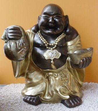 Buddha-kinai-álló/75-cm-bronz-arany