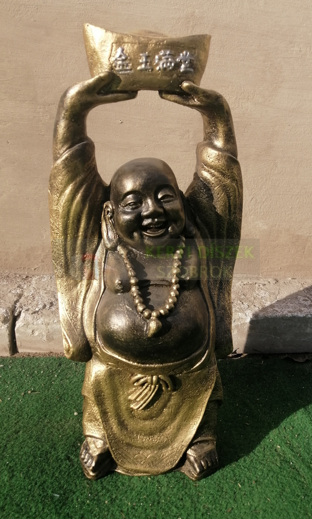 Buddha-kinai-feje-folott-hajo-35-cm-antik-arany