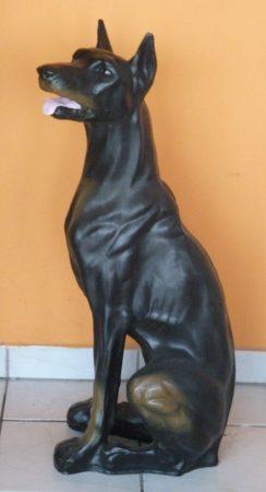 Kutya-Dobermann-ülő/90cm