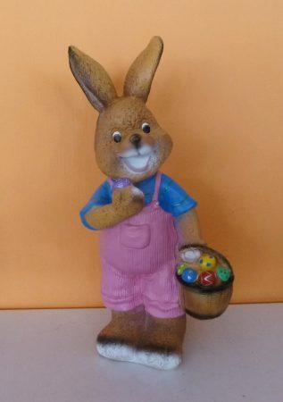 Nyúl- 44 cm-húsvéti tojásokkal