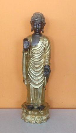 Buddha-thai-álló-46cm/bronz-arany