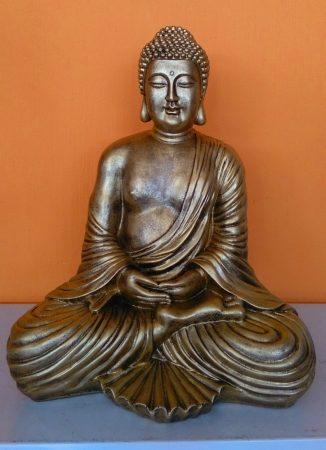 Buddha-thai-meditalo-43-cm-antik-arany