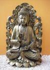 Buddha-Thai-tanito-lotuszviragon-antik-arany