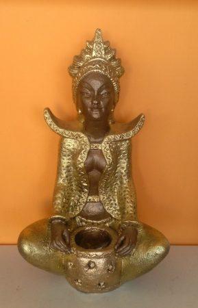 Buddha-tibeti-Csenrezi-vazaval-barna-arany