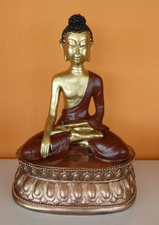 Buddha-nepali-lotuszulesben-arany-réz/AR-B6