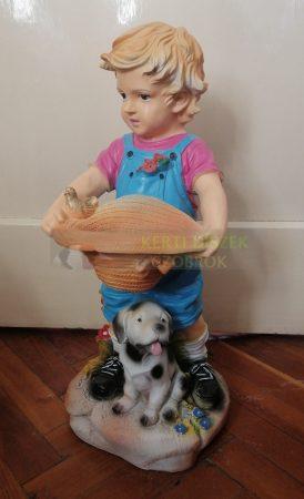 Fiú-kutyával/kalappal