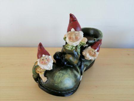 Kerti törpe-16cm-3 törpe a jobb cipőn-tartó