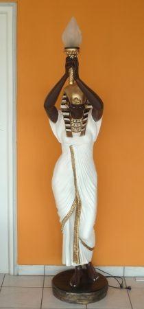 Fáraónő-185cm-Kleopátra-lámpa/barna-fehér