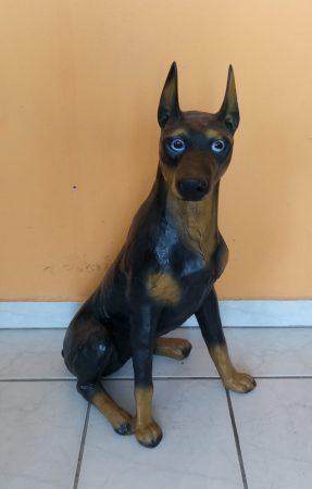 Kutya-Dobermann-ülő/72cm