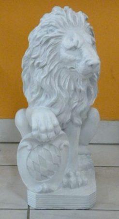 Oroszlán-55 cm-címerrel/szürkés fehér-jobb mancs a címeren