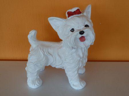 Kutya-Yorki-álló/mini/fehér