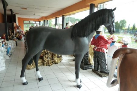 Ló-210 cm/fekete