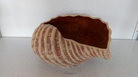 Kerámia-Virágtartó-Öblös kagyló kaspó/bordó/K-07