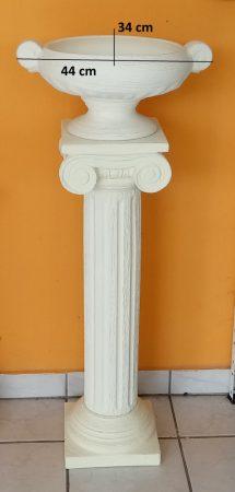 Kerámia-Oszlop-csigavonalas/virágtartó kehellyel/K19-terrakotta