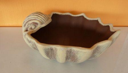 Kerámia-Virágtartó-Kagylótál/barna-kozepes/K12-ko