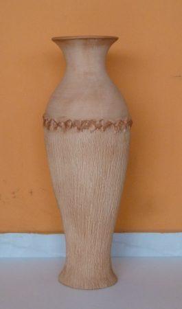 Kerámia-Padlóváza/K-11/terrakotta