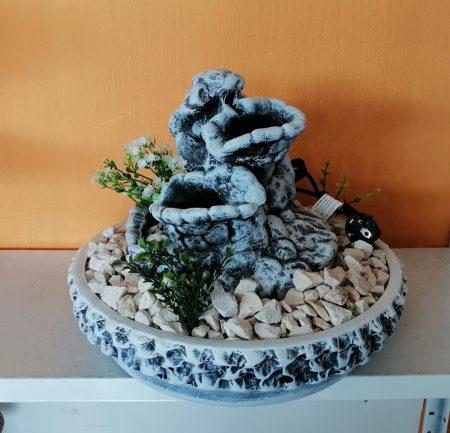 Kerámia-Csobogó-Rusztikus tál-40/barlanggal-kék