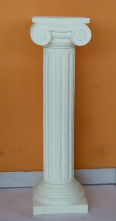 Keramia-Oszlop-csigavonalas-diszites-gorog/K-09-tört fehér