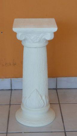 Kerámia-Oszlop-római motívummal/K-10/tört fehér