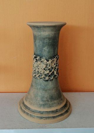 Kerámia-Oszlop-rusztikus kicsi-40cm/antik