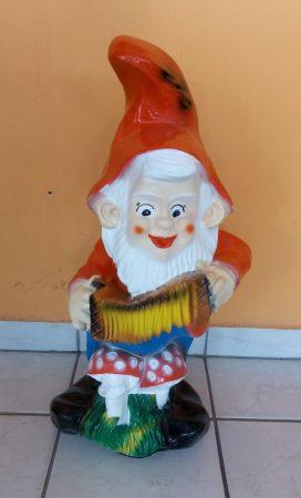 Kerti törpe-Zenész-Harmonikás-72cm