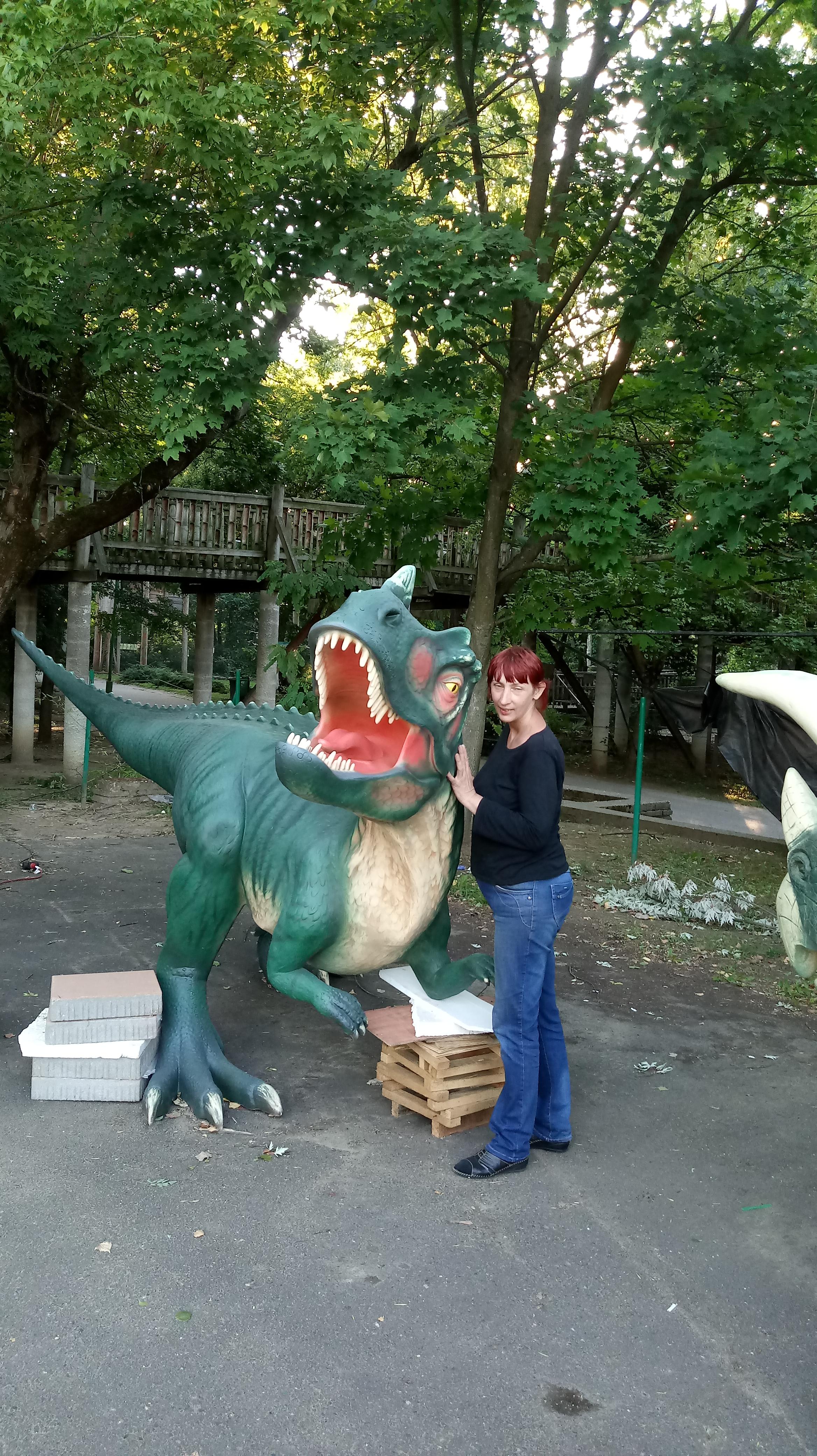Ceratosaurussal a kibontás után