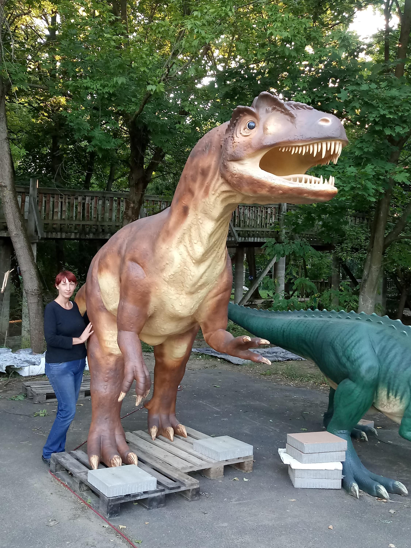 Allosaurus kibontás után